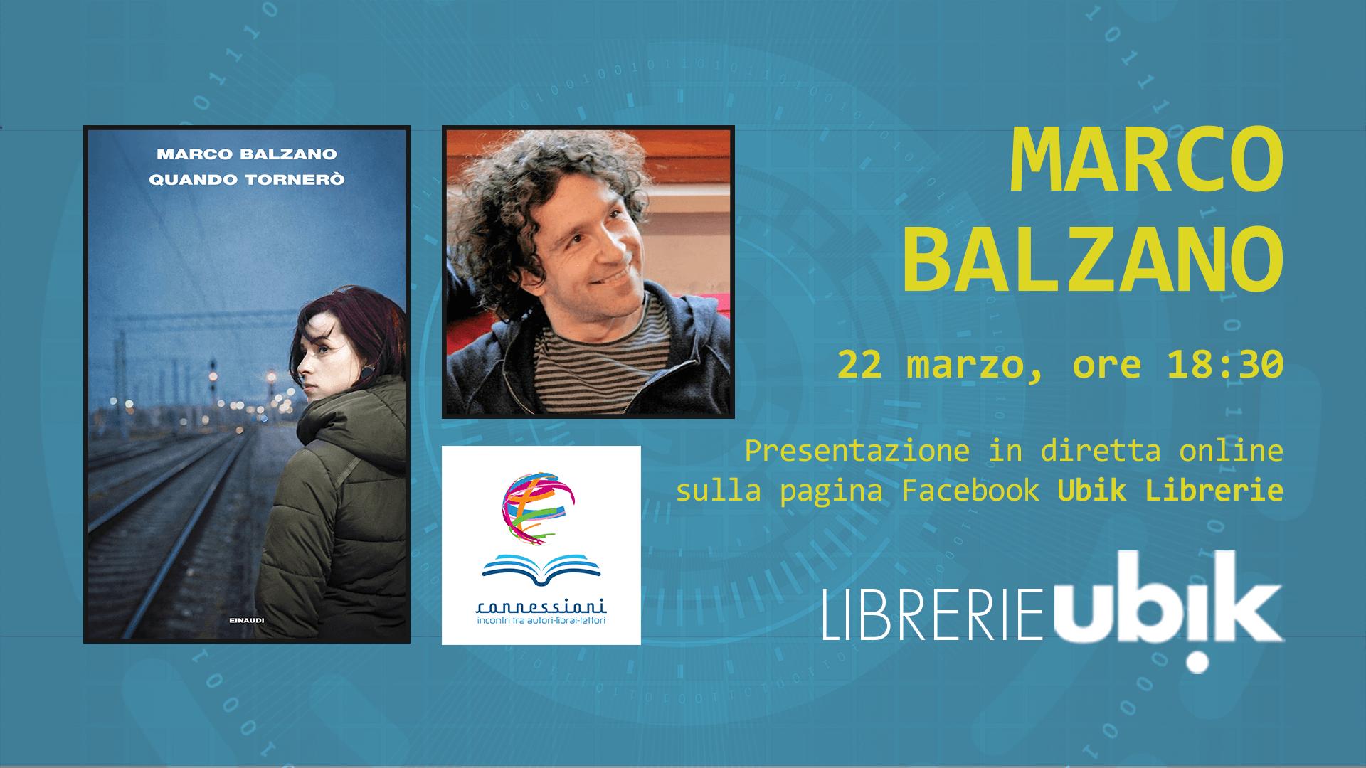 MARCO BALZANO presenta in diretta online