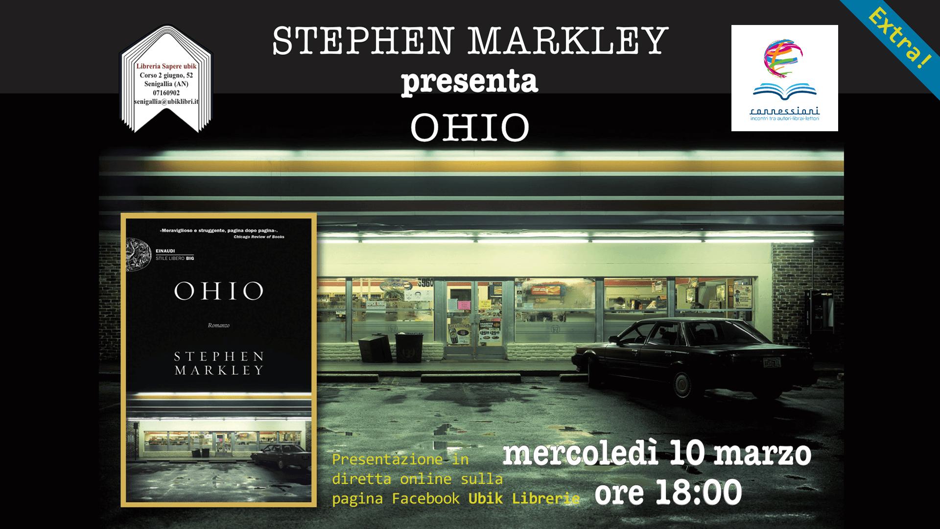 STEPHEN MARKLEY presenta in diretta online