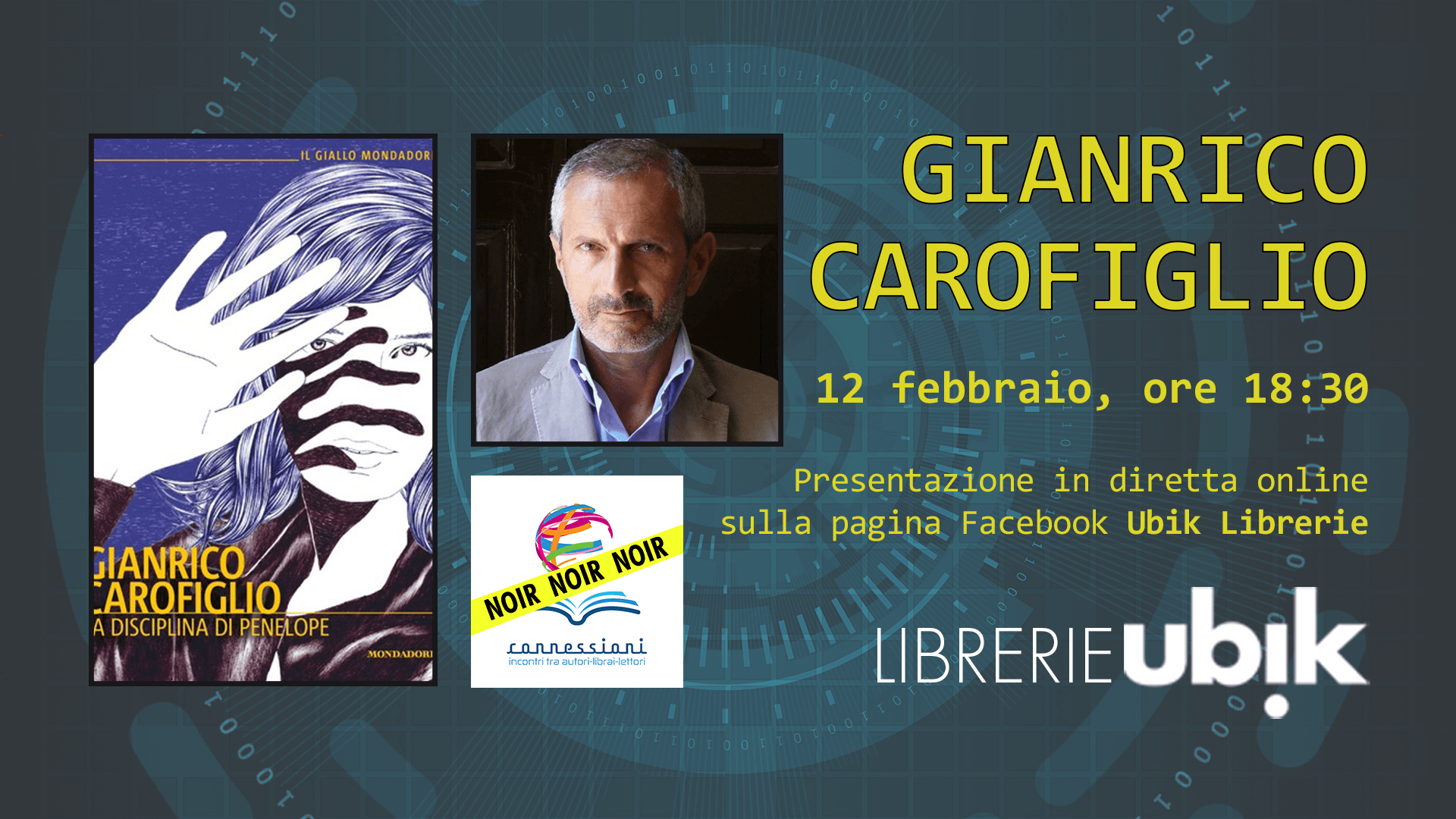 GIANRICO CAROFIGLIO presenta in diretta online