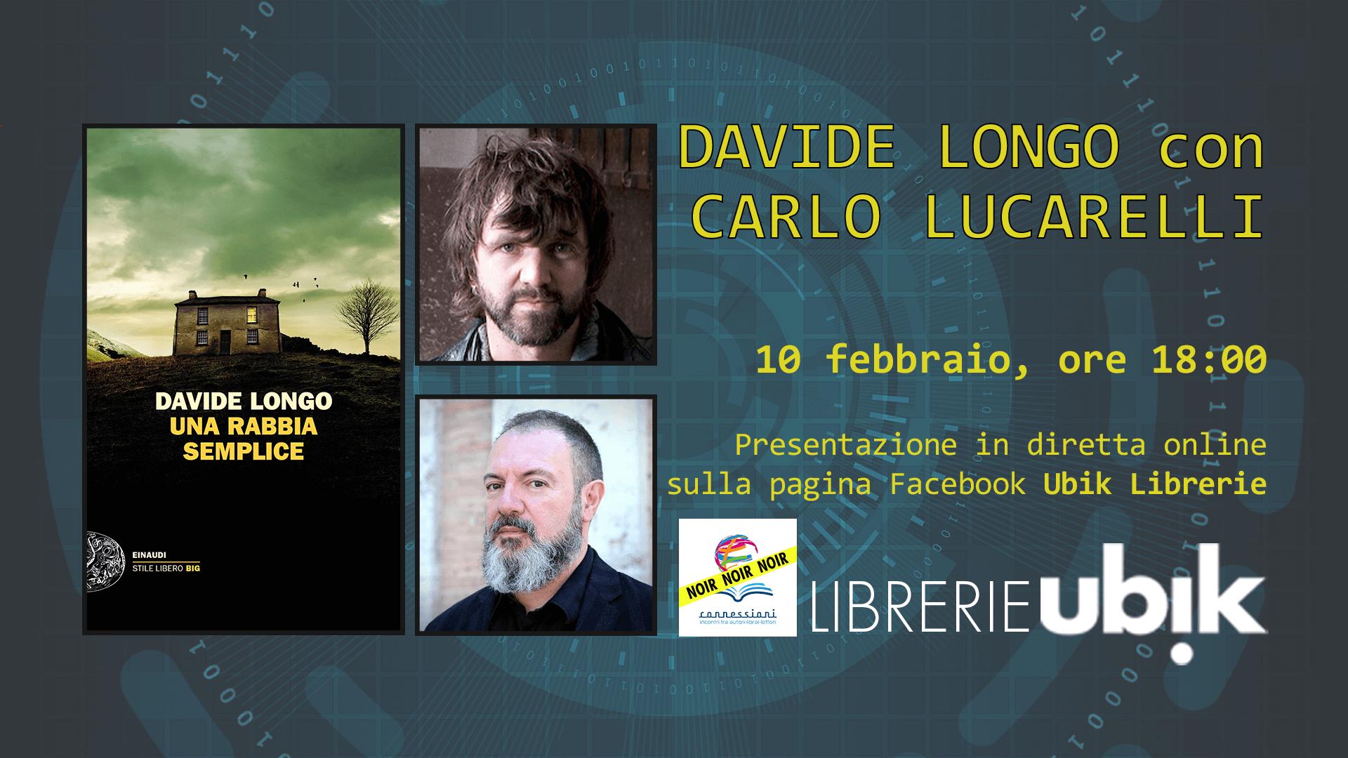 DAVIDE LONGO con CARLO LUCARELLI presenta