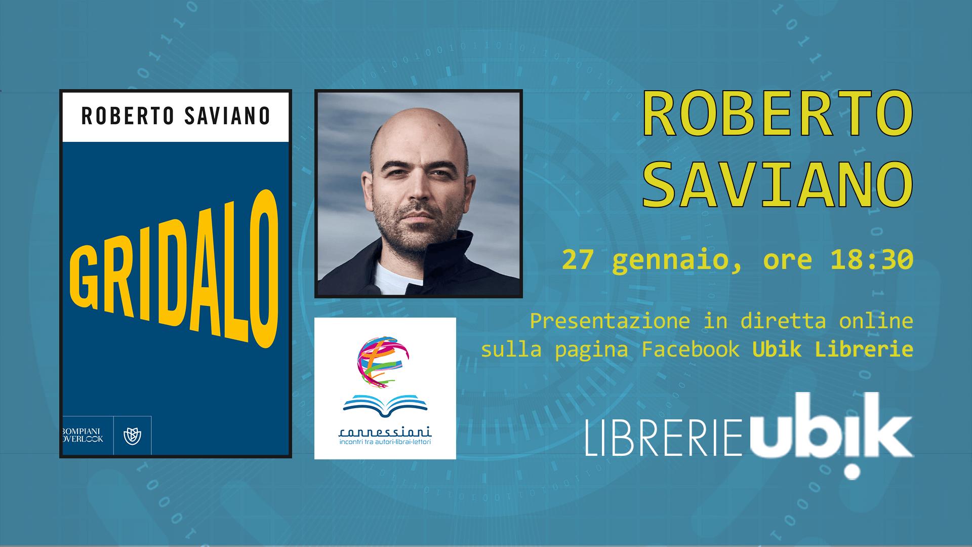 ROBERTO SAVIANO presenta in diretta online