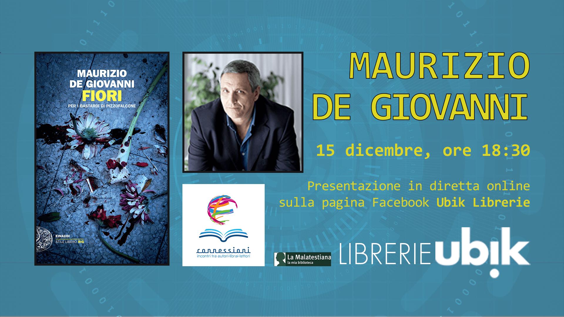 MAURIZIO DE GIOVANNI presenta in diretta online