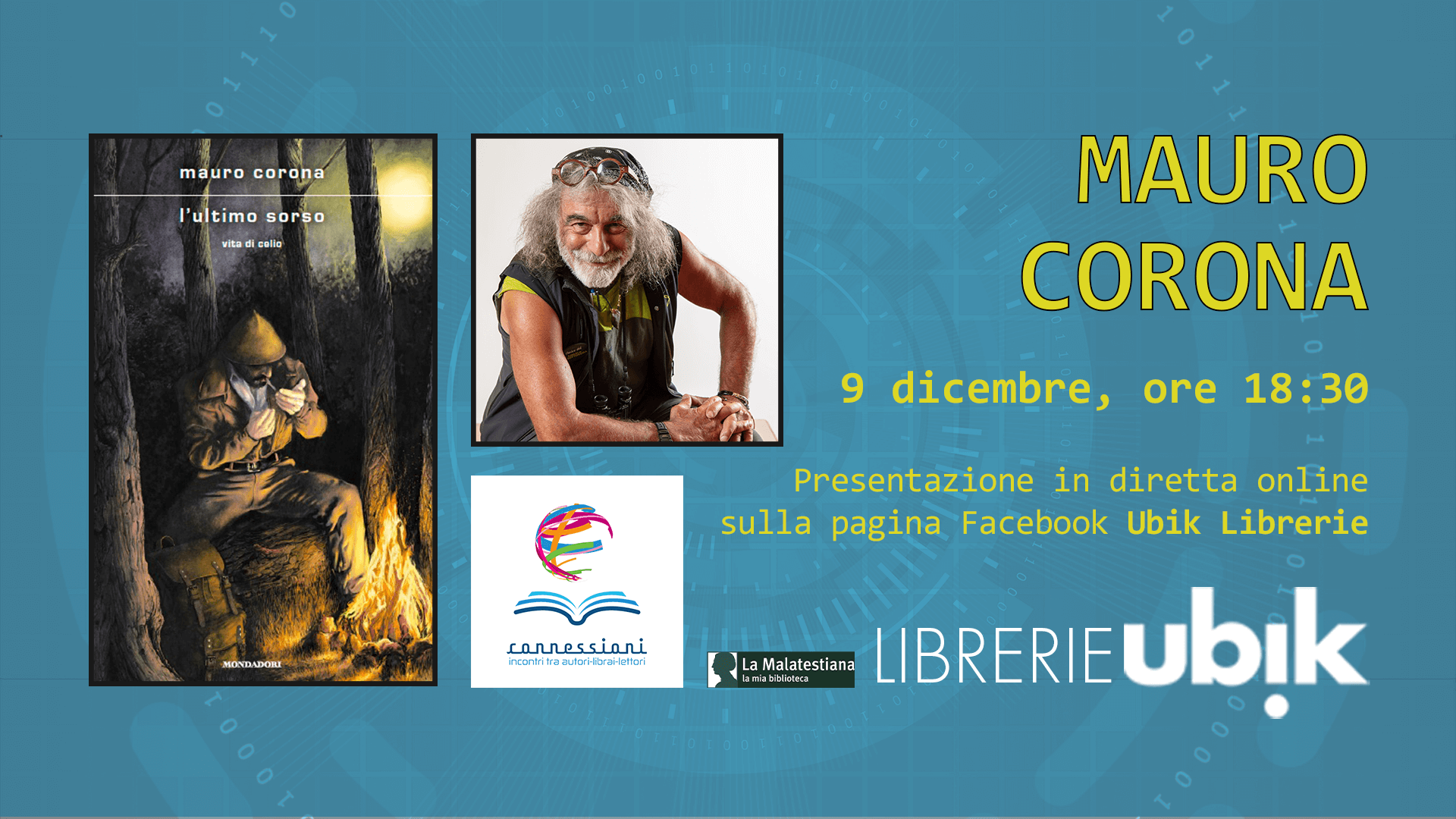 MAURO CORONA presenta in diretta online