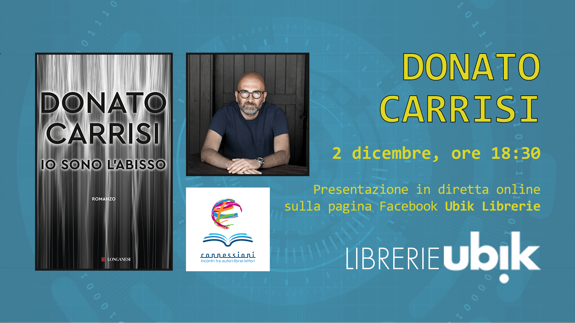 DONATO CARRISI presenta in diretta online